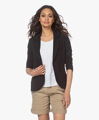 Repeat Getailleerde Jersey Blazer - Zwart