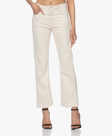 Closed Baylin Cropped Flared Jeans - Cream