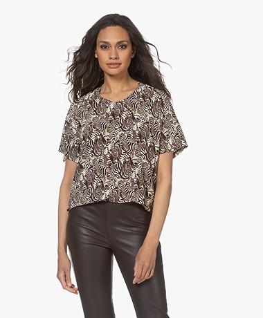 LaSalle Viscose Jersey Print T-shirt - Capri