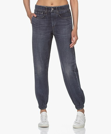 Rag & Bone Miramar Jeans Printed Sweatpants - Merest Dark Blue