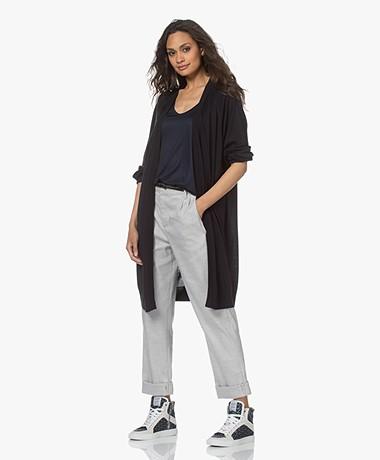 Drykorn Surima Fine Knit Open Cardigan - Dark Navy