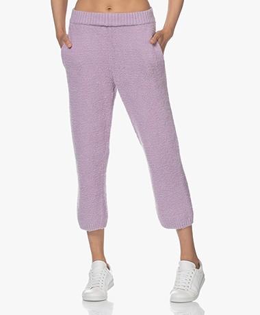 American Vintage Tikob Feather Yarn Sweatpants - Violette
