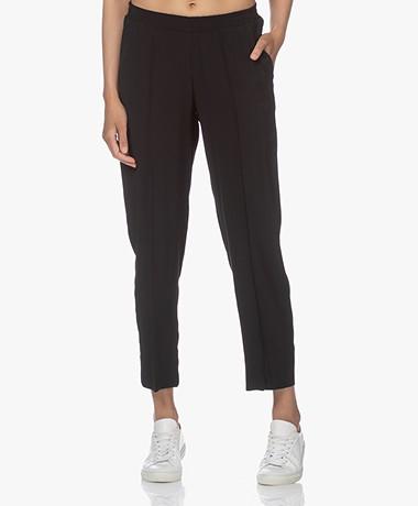 LaSalle Crêpe Satijnen Pantalon - Zwart