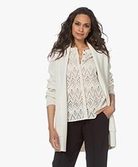 Sibin/Linnebjerg Mio Halflang Open Vest - Off-white