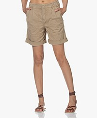Drykorn Hiking Cotton Blend Bermuda Shorts - Beige