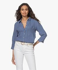 Belluna Jamie Linnen Blouse - Jeans