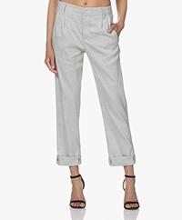 Drykorn Dispatch Linen Blend Pants - Grey