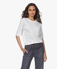 Filippa K Clara Round Neck T-shirt - White