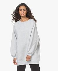 American Vintage Baetown Lange Oversized Sweater - Lichtgrijs Mêlee