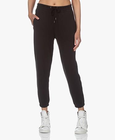 James Perse Fleece Pull On Sweatpants - Black
