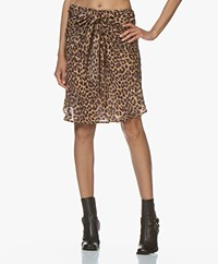 Mes Demoiselles Springsteen Panther Print Skirt - Brown