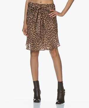 Mes Demoiselles Springsteen Panther Print Skirt - Brown