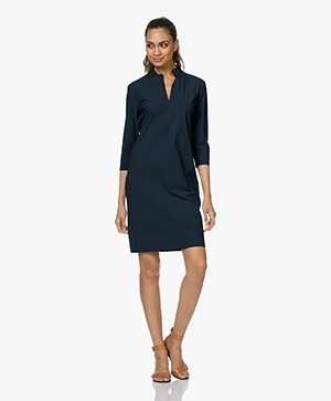Woman by Earn Tara Tech Jersey Jurk - Navy