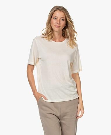 By Malene Birger Aleah Lyocellmix T-shirt - Crème