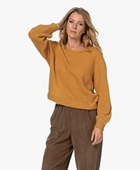 American Vintage Razpark Wool Blend Sweater - Honey Melange