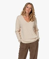 Sibin/Linnebjerg Haven V-neck Sweater - Kit