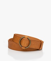 Marie Sixtine Prue Stepless Adjustable Belt - Cognac