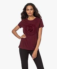 Zadig & Voltaire Walk New Blason Print T-shirt - Bordeaux