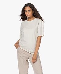 Filippa K Dagny Oversized Katoenen T-shirt - Ivory