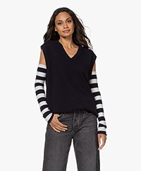 extreme cashmere N°189 Tube Narrow Been- en Armwarmers - Stripe