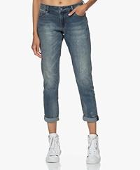 Denham Monroe Girlfriend Fit Jeans - Blue