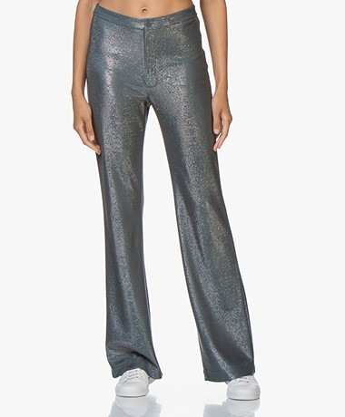 Filippa K Nyx Lurex Trousers - Blue Grey/Silver