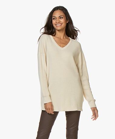 American Vintage Leymond V-neck Sweater - Ecru
