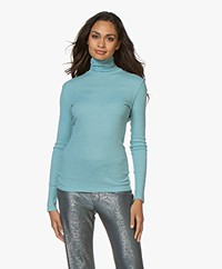 Filippa K Shima Polo Neck Top - Ocean Reef
