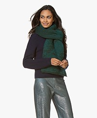 Wolvis Bondlot Jacquard Wool Blend Scarf - Emerald/Dark Green