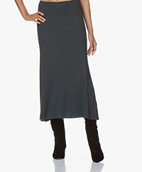 Repeat Knitted Merino Midi Skirt - Dark Green