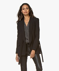 IRO Dachsie Blazer with Tie Closure - Black