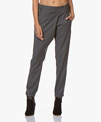 Woman By Earn Earn Tapered Wool Blend Pants - Dark Grey