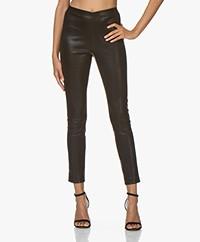 Rag & Bone Simone Leather Slim-fit Pants - Black