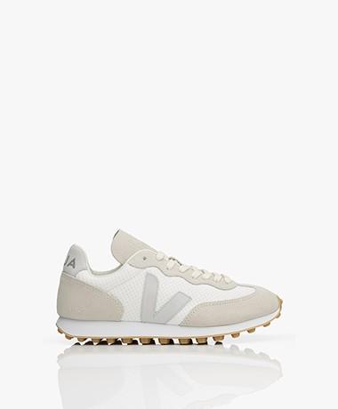 VEJA Rio Branco Hexamesh Suède Sneakers - Greige/Wit/Grijs