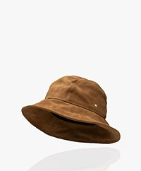 Rag & Bone Nando Suède Bucket Hat - Golden Brown