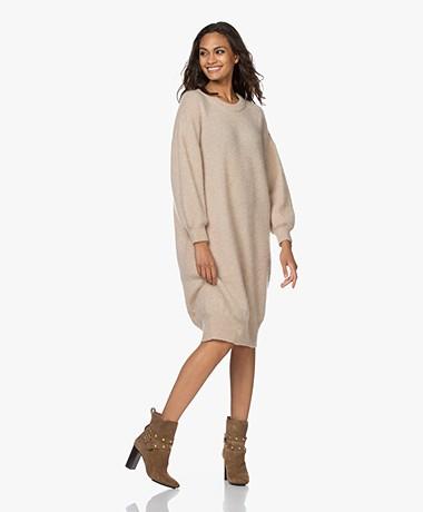 American Vintage Zabibay Knitted Mohair Blend Dress - Sheep Melange