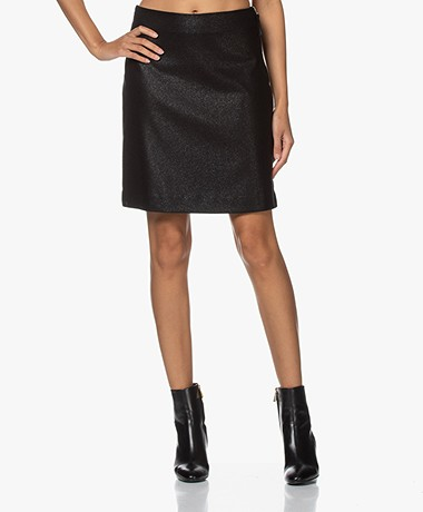 Filippa K Holly Lurex A-lijn Rok - Zwart