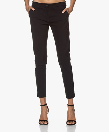 Woman by Earn Sue Stretch Viscose Pantalon - Zwart