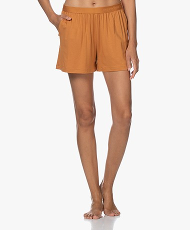 Organic Basics Tencel Jersey Shorts - Ochre Yellow