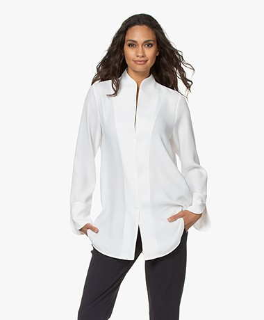 Woman by Earn Nada Blouse met Splitmouwen - Off-white