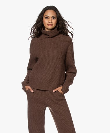 Rag & Bone Pierce Cashmere Turtleneck Sweater - Brown