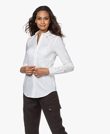 Drykorn Livy Stretch Poplin Blouse - Wit