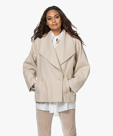 Drykorn Keighley Short Wool Blend Coat - Tapioca