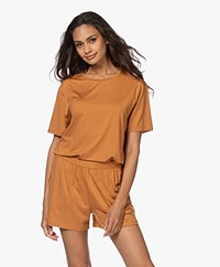 Organic Basics Tencel Jersey T-shirt - Okergeel