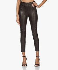 SPANX® Leather-like Ankle Skinny Broek - Zwart