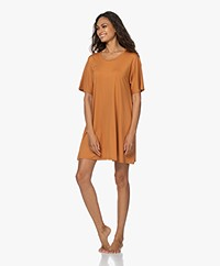 Organic Basics Tencel Lite Jersey T-shirt Dress - Ochre Yellow