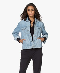 Rag & Bone Shrunken Trucker Denim Jack - Dagger
