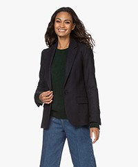 by-bar Ilva Gisella Herringbone Blazer - Midnight