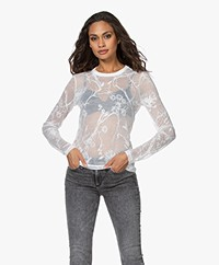 Rag & Bone Valencia Floral Burn-out Long Sleeve - White