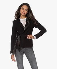 IRO Awa Wool Blend Knitted Jacket - Black